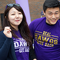 Students wearing Real Dawgs give back t-shirts