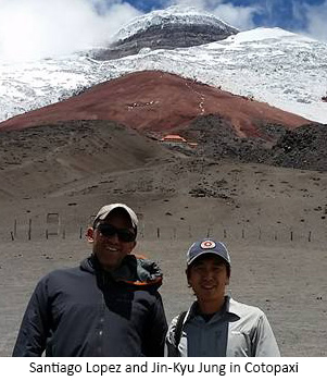 Jung and Lopez at Cotopaxi
