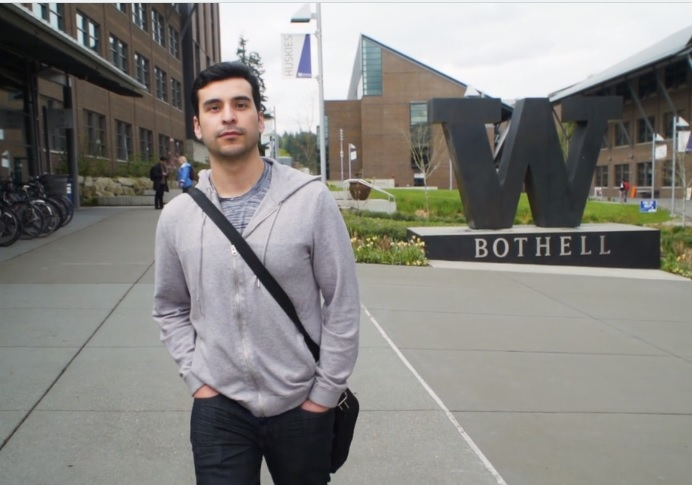 Luis Ramirez on UW Bothell campus.
