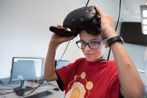 boy in VR summer camp