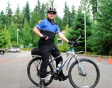Security officer on bicycle