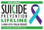Suicide Prevention Hotline logo with ribbon