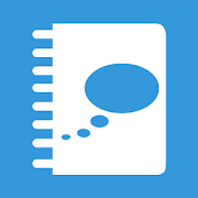 icon of a diary with a thought bubble as the cover